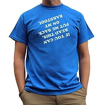 Nutees If U Read This Put Me Back Barstool Men T Shirt - Royal Blue