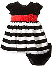 Little Me Baby Girls' Black and White Dress and Panty