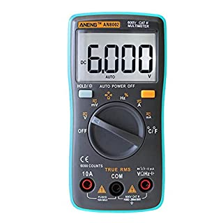 Gowind6 ANENG AN8002 Digital Multimeter 6000Counts AC/DC Ammeter Temperature Tester