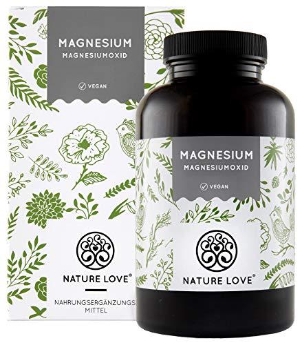 Magnesium (Magnesium - 660mg, davon 400mg elementares Magnesium je Kapsel - höher konzentriert als Magnesiumcitrat. 365 Kapseln im Jahresvorrat. Laborgeprüft, hochdosiert, vegan, hergestellt in Deutschland)