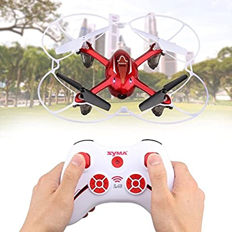 Syma X11C RC 2.4G RC Quadcopter Mini Drone Helicopter Aircraft With 2MP HD Camera & LED Light WildGrow (X11C Red)