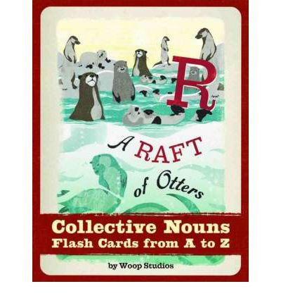 ARaft of Otters Collective Nouns Flash Cards by Woop Studios ( Author ) ON Feb-01-2012, Cards