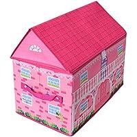 Preisvergleich für TE-Trend Stoff Spielhaus Spielbox Verschiedene Motive Aufbewahrungsbox mit Deckel aufklappbar