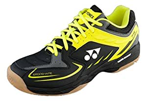 Yonex SHB 75EX Badminton Shoes, UK 11 (Black/Yellow)