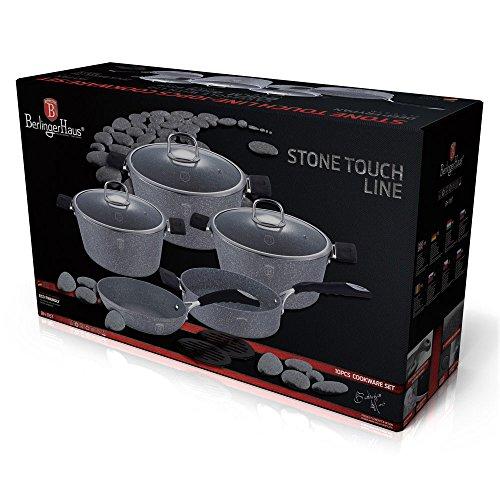 Berlinger Haus Batería de cocina 10 Piezas Gray Stone Touch Line