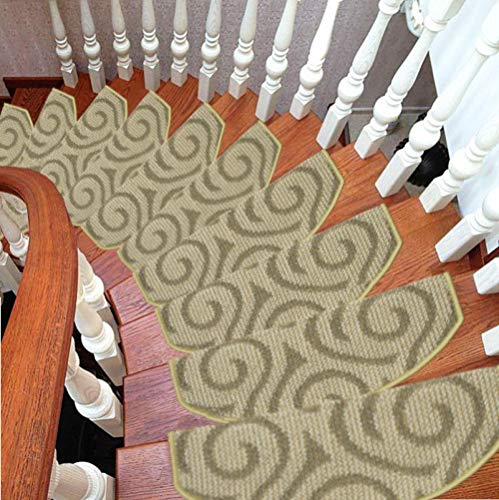 TreppenmatteTreppenmattenfreier Kleber selbstklebende Fußauflage Treppe Teppich Silikonmatte Fußmatte {10St}, wie in Abbildung_65cm * 24cm * 3cm gezeigt