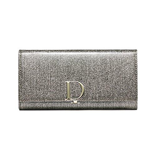 CLOTHES- Lady Wallet Europe e il portafoglio multifunzionale del sacchetto di mano del raccoglitore del cuoio lungo degli Stati Uniti ( Colore : Light gold ) Light gold