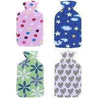 Wärmflasche mit weichem Fleece-Bezug, 2l Kapazität, von Real Accessories®, ideal für Zuhause, Camping, Wohnwagen... preisvergleich bei billige-tabletten.eu