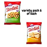 Slimfast cheddar bites Sour Cream and Pretzels Variety Snack Pack's 6 Great for Dieting see the weight fall off with the Aetn waist tape measure.