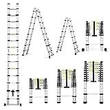 Femor 2.6M Alu Teleskopleiter Anlegeleiter Aluleiter Sprossenleiter Schiebeleiter