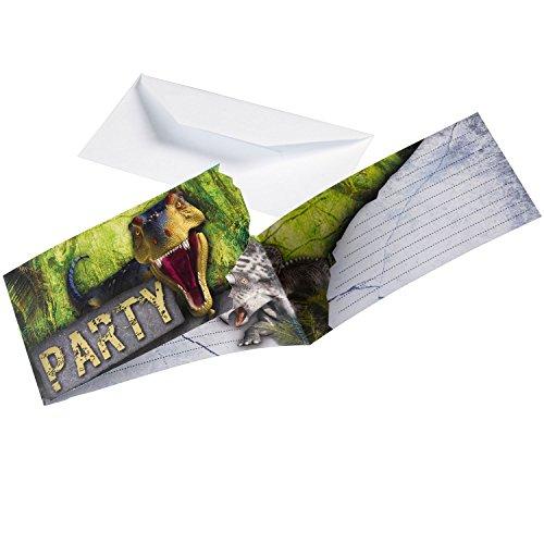 amscan 9900360Dinosaurier Attack Einladungen mit Umschlägen