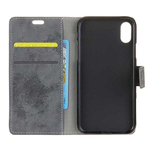 Coque Pour iPhone X, Coloré Motif PU Cuir portefeuille Housse Etui pour iPhone X Case Coque Protection Flip Cover avec carte de crédit Slots (KW-14#) KW11#