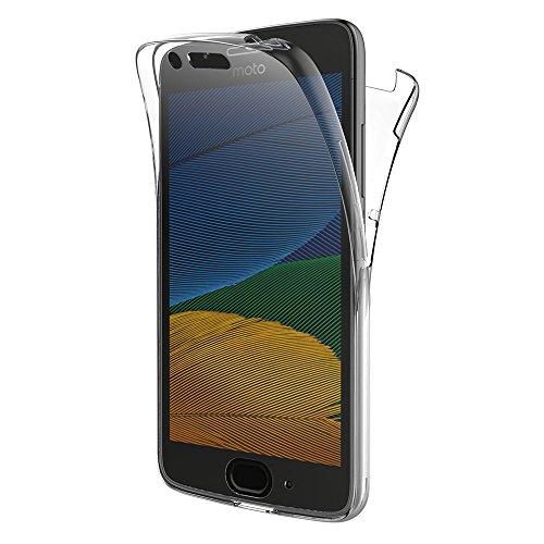 """Funda Moto G5, AICEK Transparente Silicona 360°Full Body Fundas para Motorola Moto G5 Carcasa Silicona Funda Case (5.0"""")"""