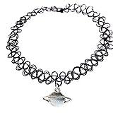 HITOP schwarz Jahrgang Strecke Tattoo Henna Choker Halsband Hippie acht Diagramme Anhänger Halskette Elastic (4)