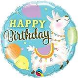 Llama Birthday Foil 18