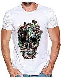 TWBB Camisetas de Manga Corta para Hombre con Estampado de Calaveras para Hombre