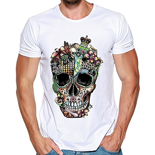 Feixiang magliette maniche corta estate t-shirt con stampa divertenti casual collo rotondo maglietta camicia di moda maglia slim fit sportive top pullover semplice maglie