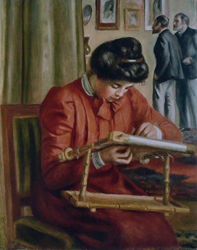 Das Museum Outlet-Christine Lerolle Stickereien, 1897, gespannte Leinwand Galerie verpackt. 50,8x 71,1cm -