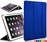 ForeFront Cases Nuova Apple iPad Air custodia / supporto a 3 Piegare in pelle con funzione magnetica per l'auto sleep e wake Per Apple iPad Air 2013 + WiFi 16Gb, 32Gb, 64Gb, 128Gb - AZZURRO