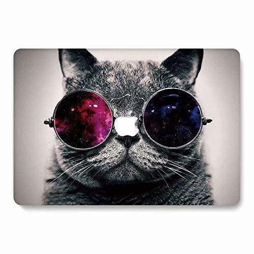 AQYLQ Hülle für 2018 MacBook Air 13 Zoll mit Retina A1932 Hartschale Tasche Schutzhülle Case 13-Zoll MacBook Air Laptop - Sternen Katze