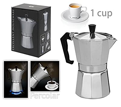Innova® Italian Espresso Latte Cafetiere Coffee Maker 1 Cup Size by Innova Brands Ltd.