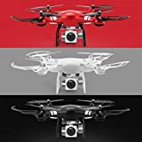 TianranRT 6 Axis Gyro Drone FPV Quadcopter with Light, Upgraded 2.4GHz WiFi FPV RC Aerial Drones with Live Camera 1080P Wide Angle Lens 270 Degree Rotating HD Camera, iPhone Android App Control, Fix Height, Headless Mode, Rollover, Aerial Gift