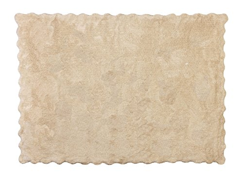 Aratextil Lisa Alfombra Infantil, Algodón, Beige, 120x160 cm