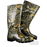 Stomil New Mens Camo Wellies Rain Waterproof Rubber Wellington Boots Forest Pattern
