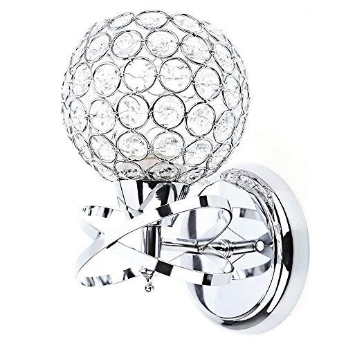 Modernes Design Stil Elegantes Interaktionsdesign Nachttisch E27 Vergoldung Technics LED Kristall Wandleuchten, SILBER