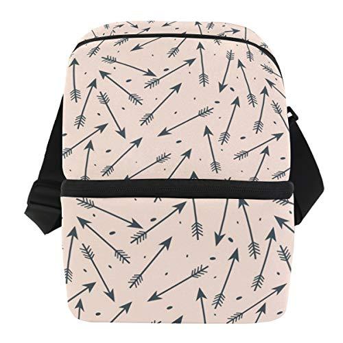 Coosun - Bolsa térmica para almuerzo con lunares, bolsa de almuerzo de neopreno impermeable con cremallera para el trabajo al aire libre, viajes, picnic