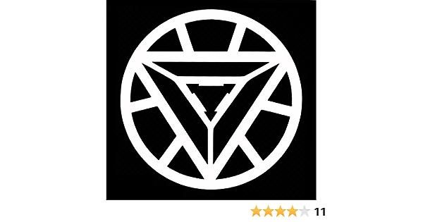 Iron Man Arc Reactor Aufkleber Vinyl Aufkleber Grafik Impressionen Für Auto Lkw Suv Vans Wände Fenster Laptop Weiß 14 Cm 14 Zoll Uri359 Küche Haushalt