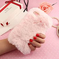 P9 Lite Lovely Case, Huawei P8 Lite 2017 Funda, SevenPanda Plush Rabbit Funda hecha