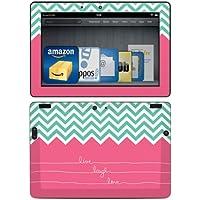 DecalGirl - Skin adhesivo para Kindle Fire HDX 8,9 (3ª generación - modelo de 2013), diseño Live Laugh Love