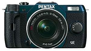 "Pentax Q10 Compact à objectif interchangeable LCD 3"" 100 Mpix Zoom 5-15 mm f/2,8-4,5 Bleu"