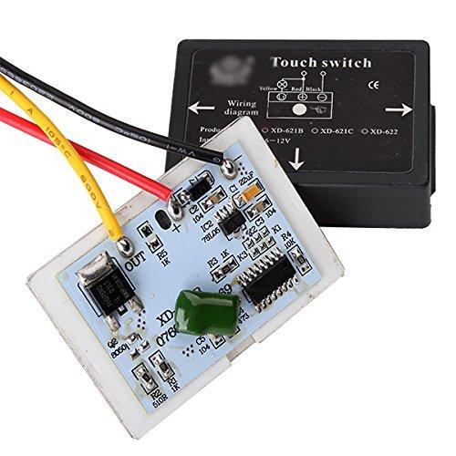 Auf/aus Badezimmer Spiegel isoliert Touch Schalter für LED Lichtquelle DC 6-12V Lampe 9v-lampe