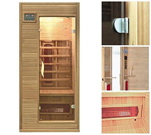Preisvergleich Produktbild Home Deluxe Infrarotkabine | Redsun S | Keramikstrahler | inkl. vielen Extras und komplettem Zubehör