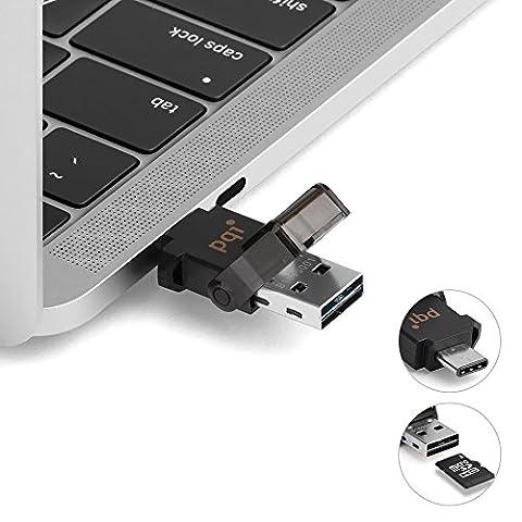 Lecteur de carte Micro SD 2 en 1 vers USB 3.1 Type C, 3.1 Type A avec OTG pour Smartphone, Tablette, PC, Macbook, Connect 312 Extension de mémoire Stockage externe Adaptateur Clé USB pour carte