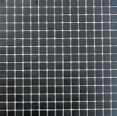 Mosaikfliese Glasmosaik Schwarz 1Matte von Mosaikpalast24 - TapetenShop