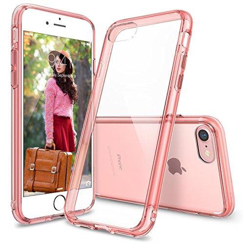Custodia Ringke FUSION per iPhone 7 rosa semi-trasparente in TPU anti urto