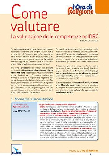 Come valutare. La valutazione delle competenze nell'IRC