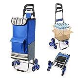 Rziioo Faltender Einkaufswagen-Treppen-Klettern-Warenkorb-Lebensmittel-Gebrauchswagen