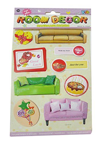 DCS 3D Room Decor Handmade Interior Design Wall Stickers for kids(14x20.5cm)  available at amazon for Rs.79