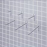 Gitter-Präsentationshaken/ Chrom/ Ø 5 mm/ L 5 cm x 10 St.