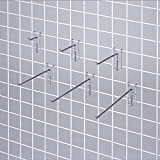 Grid Mesh Display Haken/Chrom/φ5mm/l5cmx10pcs