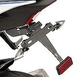 Motorrad Kennzeichenhalter mit Beleuchtung Nummernschild Yamaha YZF-R6 17-18 Puig schwarz