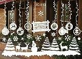Eenkula NoeL Boule De Neige Stickers Muraux Amovibles Mur De FeneTres En Vinyle De La Maison Autocollants DeCalcomanie DeCoration