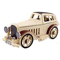 Creative Assemble Puzzle Toys Child Early Education Wooden 3 D Puzzle Car Vintage Car Convertible