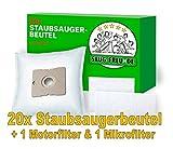 20 Staubsaugerbeutel + 2 Filter geeignet für HANSEATIC FRESH 1500, FRESH 1800, Eco Line Premio, IX VAC 1600, Sweety 1400, von SAUG-FREUnDE Made in Germany