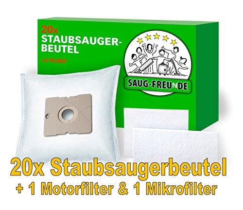 20 Staubsaugerbeutel + 2 Filter geeignet für DIRT DEVIL M7045 - Vito 5.0, Lifty Plus M 2012-1, Swiffy Plus, M7012, M7098-1 Fantasy, M7011-3 Skuppy, M1564, M7019, M7099, M7011, M7010 von SAUG-FREUnDE M
