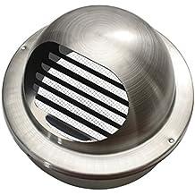 Braun Kreis L/üftungsgitter mit Fliegengitter//Mesh und verstellbare Luftf/ührung Gr/ö/ße Anschluss 100/mm 110/mm 115/mm 120/mm 125/mm 130/mm 140/mm 150/mm 10,2/cm 12,7/cm 15,2/cm t36br
